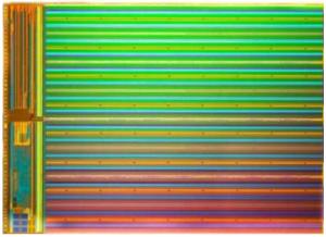 Intel/Micron 3D-NAND flash die (Source: Intel/Micron/IEDM)