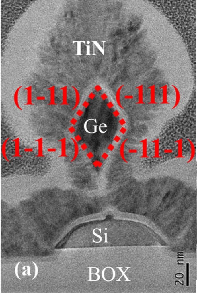 Diamond-shaped Ge nanowire (paper 15.4)