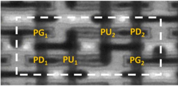 TEM image of Intel 14-nm SRAM cell [4]